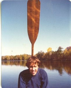 At age 18 - maybe the first sign of abnormal brain was a canoe paddle sticking out of my head.